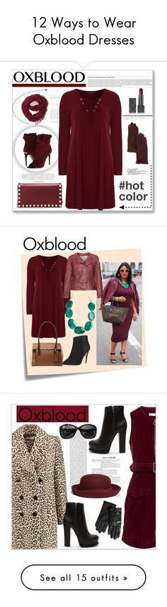 """""""12 Ways to Wear Oxblood Dresses"""" by polyvore-editorial ❤ liked on Polyvore featuring waystowear, oxblooddress, BP., Burberry, Valentino, Ralph Lauren, Dorothy Perkins, CENA, oxblood and hotcolor"""