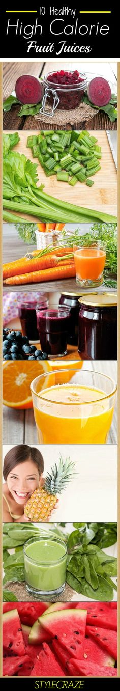10 Healthy Fruit Juices And Their Calorie Counts : The top ten high calorie fruit juices with their calorie counts are mentioned below.