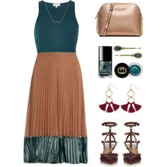Styling a Pleated Skirt by stavrolga on Polyvore featuring River Island, Valentino, MICHAEL Michael Kors, Humble Chic, Dutch Basics, Gucci, Henri Bendel, pleatedskirts, pleats and polyvoreeditorial