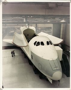 Full-scale mockup of Space Shuttle Orbiter Constitution  (OV-101) 1975 - Donwney, CA by aharvey2k, via Flickr