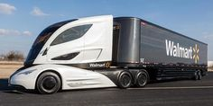 A Fuel-Efficient Big Rig From Walmart That Looks Like a Smushed Corvette | Autopia | Wired.com