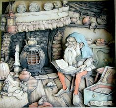 The shadowboxes drawn by Anton Pieck..something like this would be fun to make.