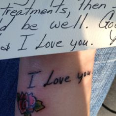Maybe I should something like this instead. I have plenty of cards and examples of my grandma's handwriting. So simple, yet so meaningful and beautiful, too...