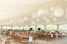 winery wedding | Simply Beautiful Décor | Blog: Wedding Tent Decor at Ravine Vineyards ...