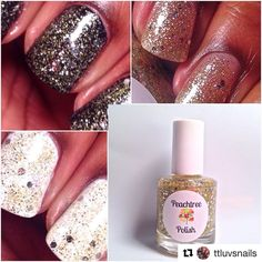 Showing how versatile Silver Bells/Gold Balls is! ✨ Beautiful! #Repost @ttluvsnails ・・・ Here is Silvers Bells/ Gold Balls by @peachtree_polish over licorice(black) by @essiepolish and White Creme by @wetnwildbeauty