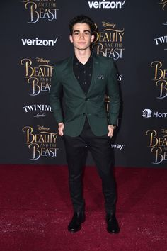 "Actor Cameron Boyce at Disney's ""Beauty and the Beast"" premiere."
