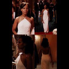Olivia Pope's white Calvin Klein dress from Scandal