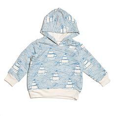 Organic Long Sleeve Hoodie - High Seas French Blue