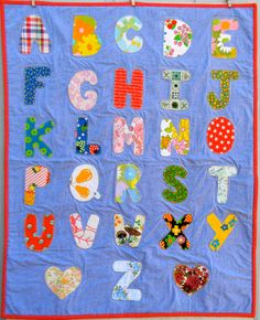 Alphabet quilt by picklehead on Etsy, $60.00