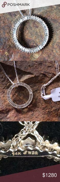 Selling this 🆕 STUNNING 2CT 14K WG BAGUETTE NECKLACE on Poshmark! My username is: cigi36. #shopmycloset #poshmark #fashion #shopping #style #forsale #Jewelry