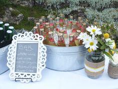 DIY backyard wedding inspiration - bar