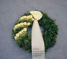 "Funeral wreath ""Akzent"" (# You are in the right place about funeral speech Here we offer you the most beautiful pictures about the funeral outfit you are looking for. When you examine the Funera Silk Flower Wreaths, Silk Flowers, Bouquet Flowers, Funeral Flower Arrangements, Funeral Flowers, Flower Arrangement Designs, Grave Decorations, Casket Sprays, Romantic Flowers"