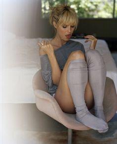 Heidi Klum, cute bangs…. Thinking I want bangs like this
