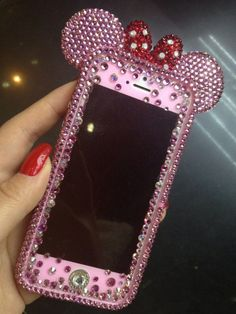 Bling Bumper Case Minnie Mouse BOW fr iPhone 5S by Crystaljam, $49.99