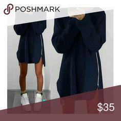 COMING SOON!! Winter Knitted  Split  Sweater Loose Tunic Mini Dresses boutique Dresses Mini