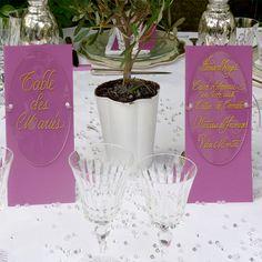 Menu et nom table écrits sur Plexiglas transparent ovale #menu #plexiglas #mariage #deco #acrylic #wedding #beplexi
