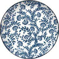 Talíř hluboký Gusta Out Of The Blue 21,5 cm, dekor květy