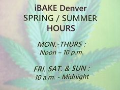 Spring Hours have arrived!!!