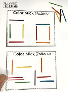 Stick Patterns: Follow Visual clues to make patterns. - October Morning Tubs