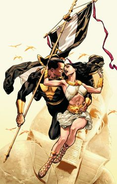 52 #12 Cover (Black Adam and Isis)