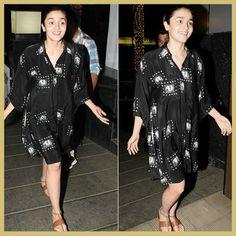 Alia Bhatt in shirt dress, MyFashgram