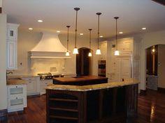 white with saltillo Kitchen Ideas, Kitchen Design, Double Islands, Home Kitchens, Light Fixtures, Kitchen Remodel, New Homes, Design Inspiration, Whitewash
