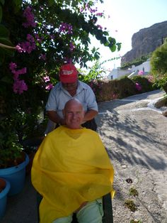 October 2015 - a bit of barbering in Megalo Horio