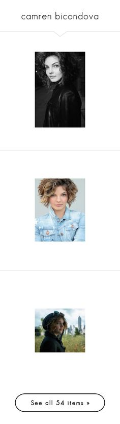"""""""camren bicondova"""" by snorkfroeken ❤ liked on Polyvore featuring models, photography, background, Gotham, camrenbicondova, jewelry and earrings"""