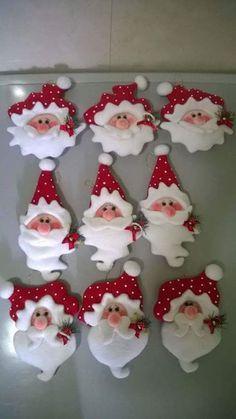 Feltro Fácil: Papai Noel de Feltro                              …