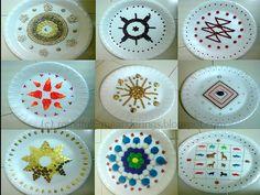 Thermocol aarthi plates - Artsy Craftsy Mom