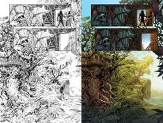 Lord of the Jungle #01 - Page 02 B/W to Color by alexguim