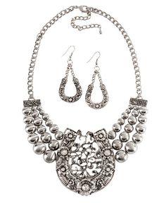 Embellished Horseshoe Necklace Set