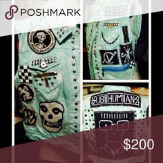 Custom made punk vest Subhumans exploited misfits XL one of a kind Jackets & Coats Vests