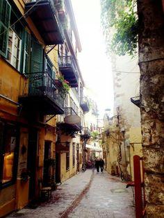Cute little Cretan street from my holiday. So pretty
