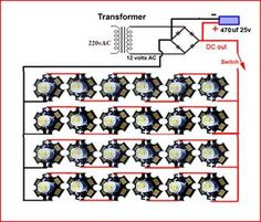 Risultati immagini per 25 led lights driver circuit Led Projects, Electrical Projects, Diy Electronics, Electronics Projects, Electronics Components, Electronic Engineering, Electrical Engineering, 1w Led, Electronic Schematics