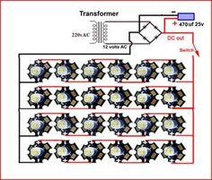 Výsledek obrázku pro 1w 25 led lights driver circuit