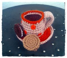 crochet cup of coffee Coffee Cups, Tea Cups, Knitting, Crochet, Tableware, Projects, Log Projects, Coffee Mugs, Dinnerware