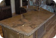 Concrete Countertop Stained Acid Stain Top Features A