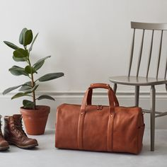 Urban Safari London Leather Weekend Bag. A solid weekend bag is designed to accompany you on your most memorable journeys. You'll need it to be crafted from durable leather that can handle stations, airports and the other knocks life throws at it, and the Vantage does all of these with style. Grained leather is the ideal choice to minimise the impact of a life of travel, and a capacious interior provides plenty of space for all the essentials.  www.urbansafarilondon.com