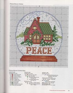 snowglobe counted cross stitch