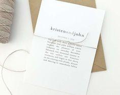 brown monochromatic font on modern wedding invitation
