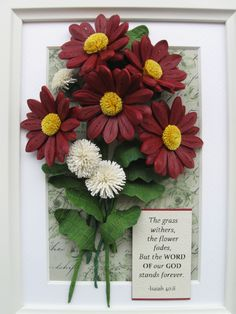 Quilled bouquet of flowers (on a 18x24 cm frame)