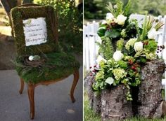 Woodland weddings are amazing – I really smell the forest aromas and hear the birds when I think of such a ceremony! Woodland weddings are more often outdoor ones, and for each season you can find your perfect decor. Flower Garlands, Flower Decorations, Table Decorations, Outdoor Wedding Decorations, Rustic Wedding Centerpieces, Woodland Theme, Woodland Wedding, Wedding Invitation Trends, Enchanted Forest Wedding