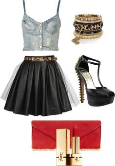 Red  Leopard, created by shawdaecorsey on Polyvore