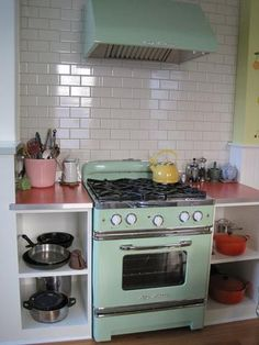 Holy crap this stove/oven by Big Chill. I love the mix of new and old. Dream house.