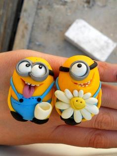 *SORRY, no information as to product used ~ the minions couple? Cute