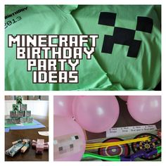 Frugal Family Times: Minecraft Birthday Party: Printables, Crafts and Games!  Also Minecraft music!