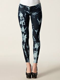 Kissy Denim Leggings 2 - Dr Denim - Ocean Blue - Jeans - Clothing - Women - Nelly.com Uk