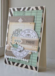 card clock MFT timeless stamp set Picturing the World Gitte blomsterbox #clock MFT die-namics #mftstamps