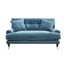 Sammetssoffa Blanca Loveseat passar perfekt för den lilla lägenheten eller som en extra stor fåtölj.